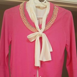 Kate spade cardigan, size small, pearl neckline